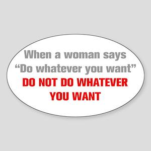 when-a-woman-akz-gray-red Sticker