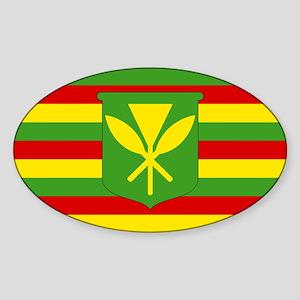 Kanaka Maoli Flag - Hawaiian Independence Sticker