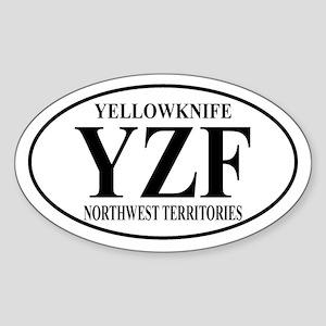 Yellowknife Oval Sticker