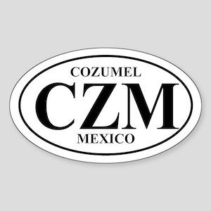 CZM Cozumel Oval Sticker