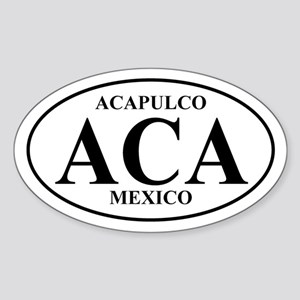 ACA Acapulco Oval Sticker