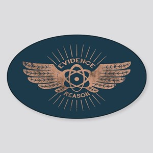 Winged Atom Sticker (Oval)