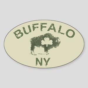 Buffalo Irish Oval Sticker