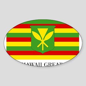 MAKE HAWAII GREAT AGAIN - Kanaka Maoli Fla Sticker