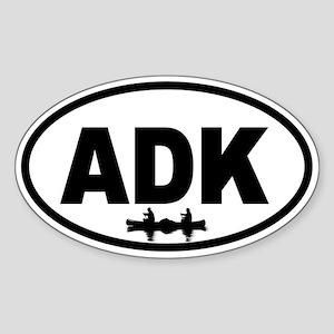 Adirondack ADK Canoe Oval Sticker
