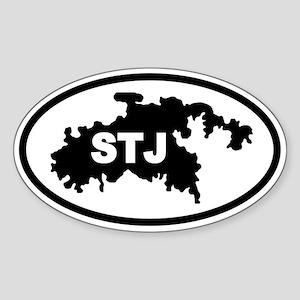 St. John's STJ Map Oval Sticker