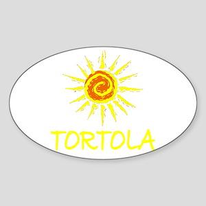 Tortola Oval Sticker