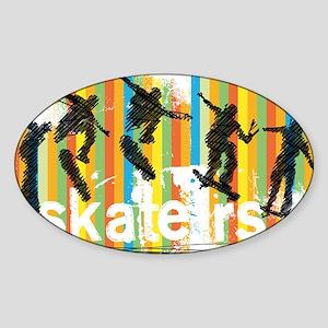 Ink Sketch of Skateboarder Progressive Seq Sticker