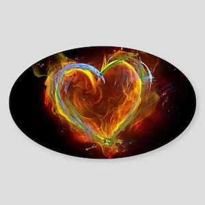 Heart of Burning Desire Sticker