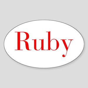 Ruby-bod red Sticker