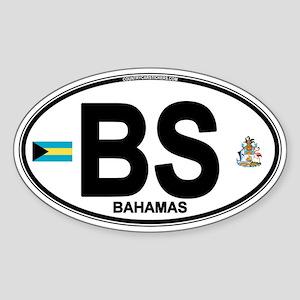 Bahamas Euro Oval Sticker (Oval)