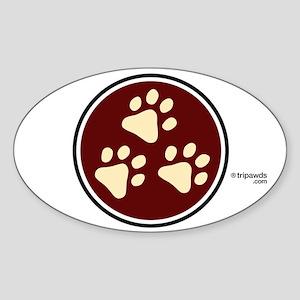 Tripawds Oval Sticker