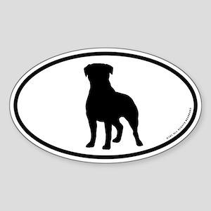 Rottweiler Oval Sticker