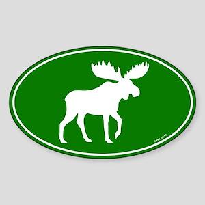 Moose Sticker (Oval)