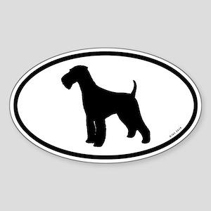 Euro Airedale Terrier Sticker
