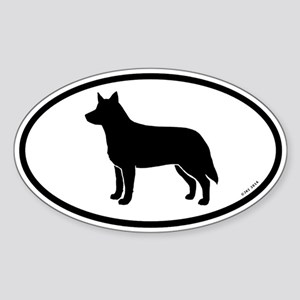 Australian Cattle Dog Oval Sticker