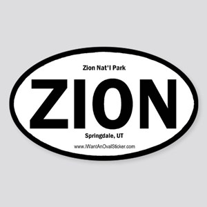 Zion Oval Sticker