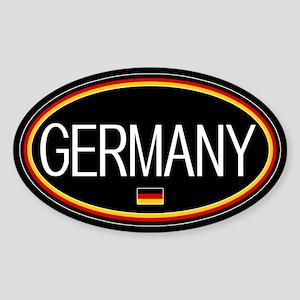 Germany: German Flag Oval (Black) Sticker (Oval)