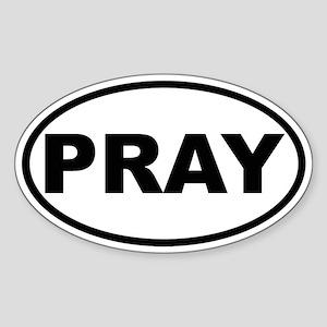 PRAY Oval Sticker