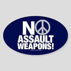 Ban Assault Weapons Oval Sticker