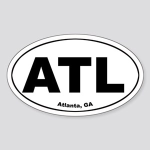 ATL (Atlanta, GA) Oval Sticker