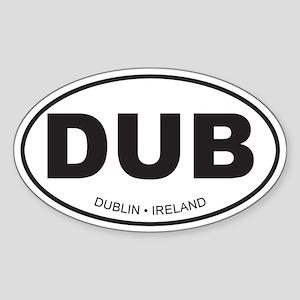 Dublin, Ireland Oval Sticker