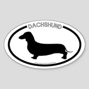 """""""Dachshund"""" White Oval Sticker"""