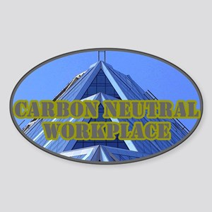Green Building Oval Sticker