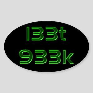 l33t 933k - Oval Sticker