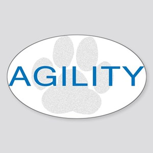 Agility Paw Oval Sticker
