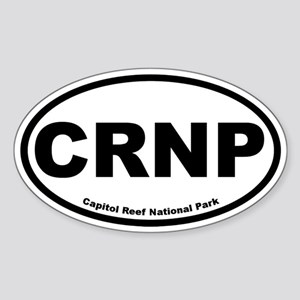 Capitol Reef National Park Oval Sticker