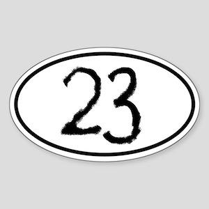 23 Oval Sticker