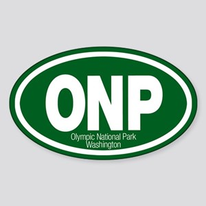 Olympic National Park Oval Sticker