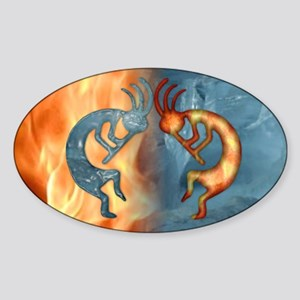 Kokopelli Fire & Ice (NEW) Oval Sticker