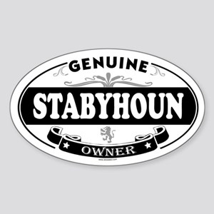 STABYHOUN Oval Sticker