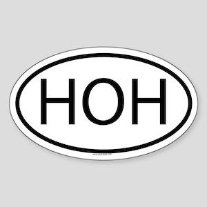 HOH Oval Sticker