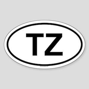 TZ Oval Sticker