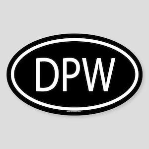 DPW Oval Sticker