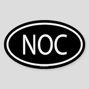 NOC Oval Sticker
