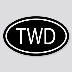 TWD Oval Sticker