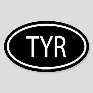 TYR Oval Sticker