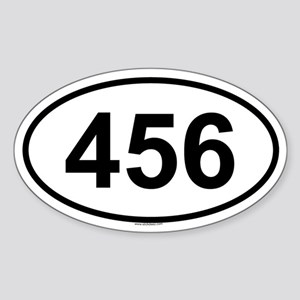 456 Oval Sticker