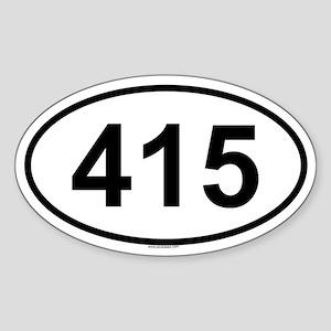 415 Oval Sticker
