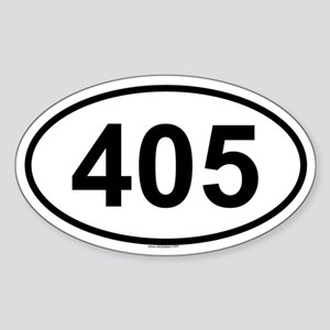 405 Oval Sticker