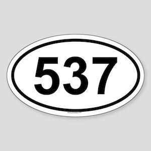 537 Oval Sticker