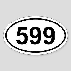 599 Oval Sticker