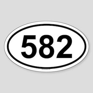 582 Oval Sticker
