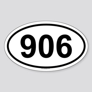 906 Oval Sticker