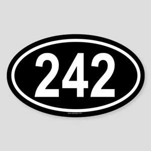 242 Oval Sticker