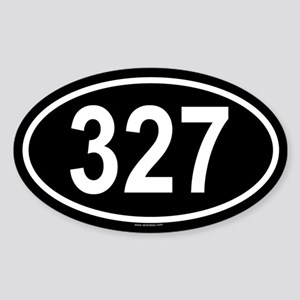 327 Oval Sticker